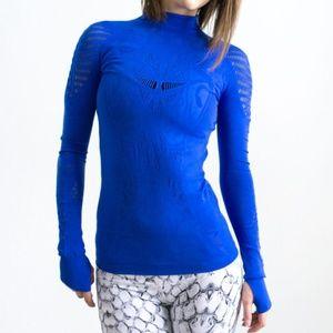 Sweaty Betty cobalt blue cut out top Zohra